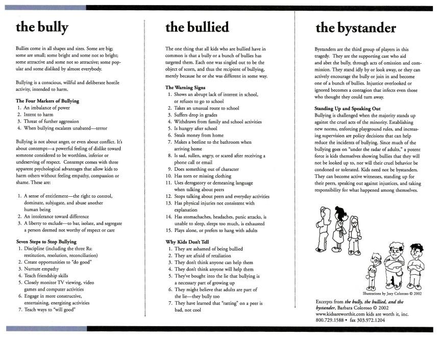 Bully Handout