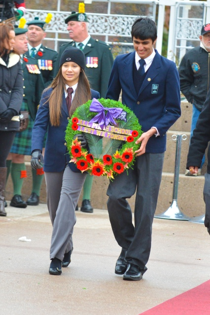 Remembrance Day 2013 - Grade 7 & 8 (39 of 50)